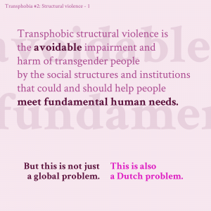 Second slide in infographic series about structural transphobic violence